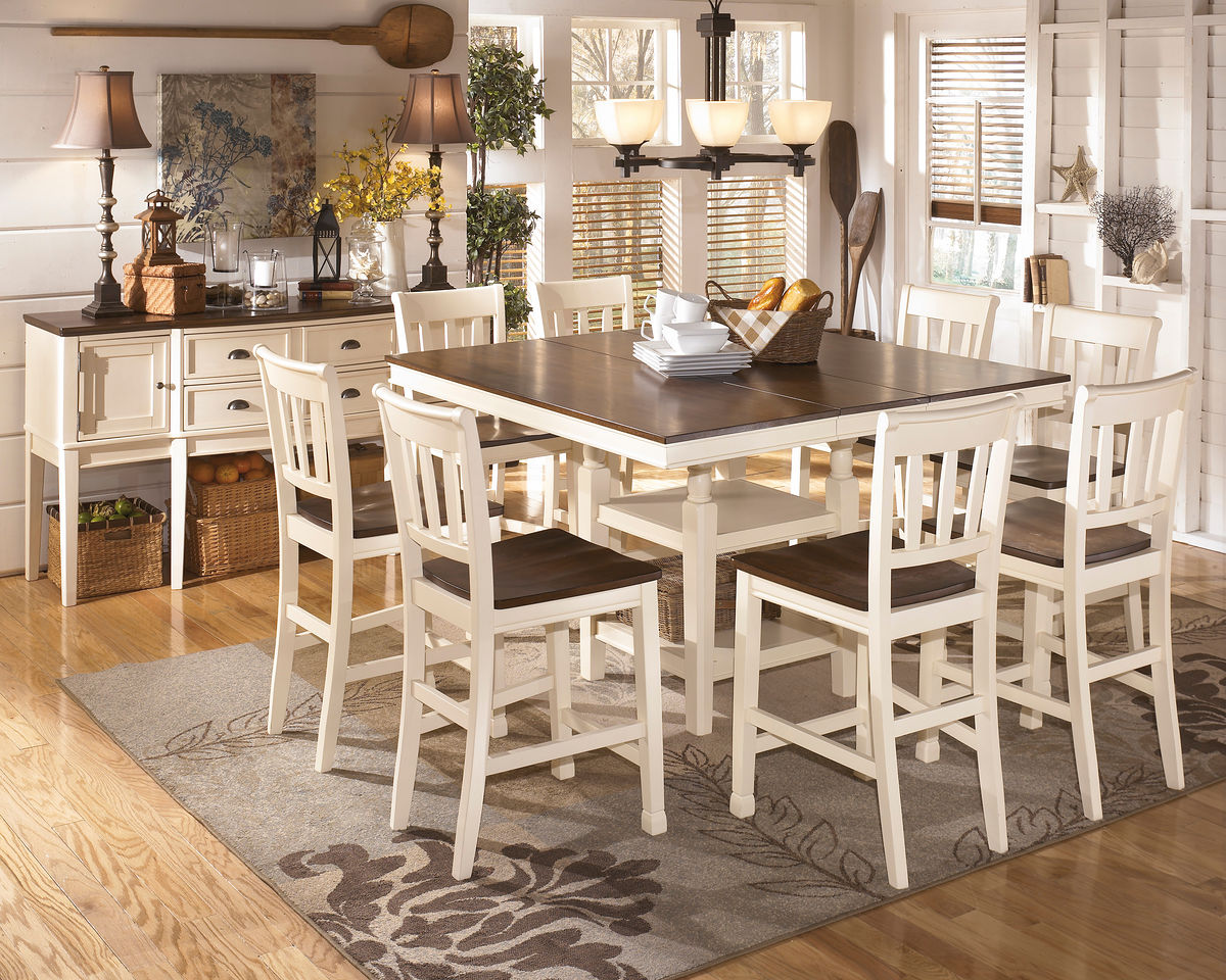 ashley and table set retreat dining pleasing chairs suites furniture room cottages breakfast fabulous dazzling cottage kitchen